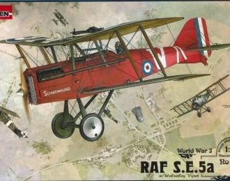 Сборная модель Британский истребитель Royal Aircraft Factory S.E.5a