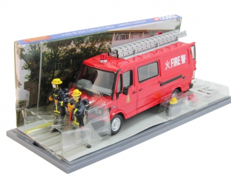 MERCEDES-BENZ 310 Van Light Rescue Unit Hong Kong, red