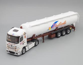 """(Уценка!) MERCEDES-BENZ Actros 5 1845 Streamspace c полуприцепом-цистерной для сыпучих грузов """"DELISLE"""" 2020"""