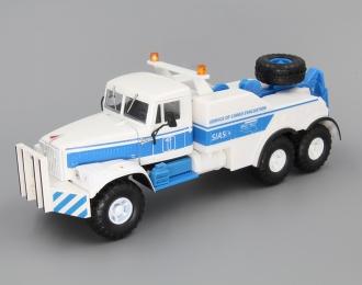 КРАЗ 255В Буксировочный тягач, белый / голубой