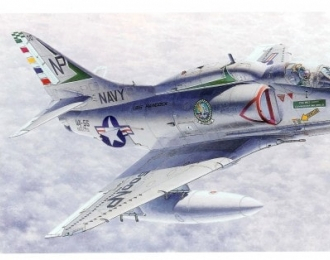 Сборная модель Американский легкий палубный штурмовик Douglas A-4E / F Skyhawk