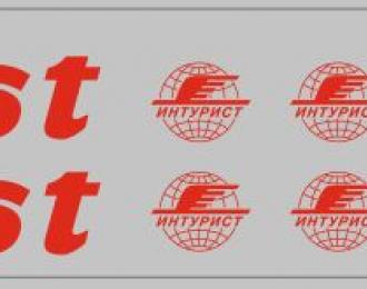 Набор декалей Inturist для Икаруса (вариант 1), красный (200х30)