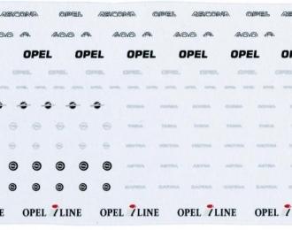 Набор декалей Логотипы и шильдики OPEL, 141x51