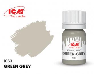 Краска для творчества, 12 мл, цвет Серо-зеленый(Green-Grey)