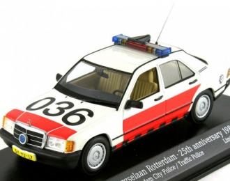 MERCEDES-BENZ 190E W201 Rotterdam City Police 25th anniversary 1982-2007 (1988), white