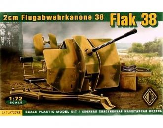 Сборная модель Flak 38 Немецкое 20 мм зенитное орудие