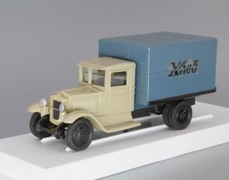 (Уценка!) ЗИС 5 фургон Хлеб, бежевый / синий