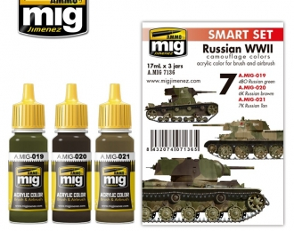 Набор красок RUSSIAN WWII COLORS SET (советская техника Второй мировой)