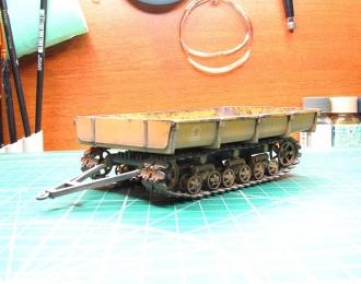 МТП-24Б прицеп гусеничный, желтый (запыленный)
