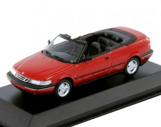 SAAB 900 SE Convertible 1993, red