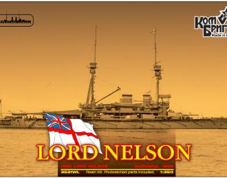 """Сборная модель Британский линкор HMS """"Lord Nelson"""" (1908г.) (полный корпус)"""