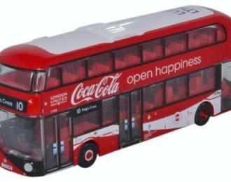 """автобус NEW ROUTEMASTER """"London United"""" Coca Cola 2018"""