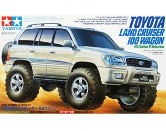 Сборная модель Toyota Landcruiser 100 с электромоторчиком