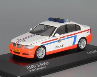 BMW 3-Series Police Luxemburg (2005), white