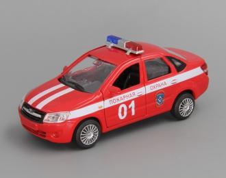 LADA Granta Пожарная Охрана, red