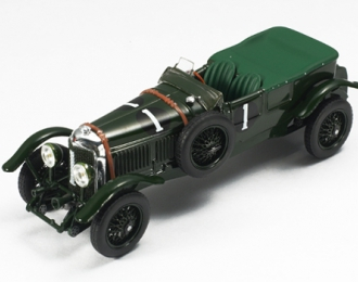BENTLEY Speed Sixwbrnato-H.BIRKIN n.1 WINNER Le Mans (1929), темно-зеленый