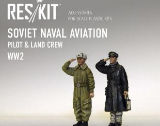 Soviet Naval Aviation. Pilot and Land Crew (WW2)