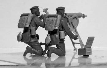 Сборная модель Германский пулеметный расчет I МВ (2 фигуры)