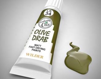 """Масляная краска """"оливковый тусклый"""""""