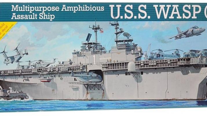 Сборная модель Американский десантный корабль-док USS Wasp (LHD-1)