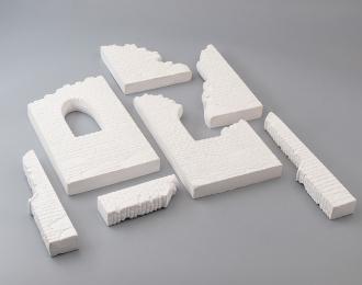 Сборная модель Фрагменты здания для диорам (вариант 3)