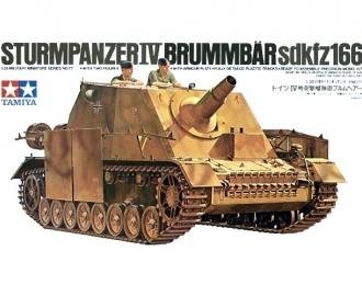 Сборная модель Самоходное орудие Sturmpanzer IV BRUMMBAR с 2 фигурами