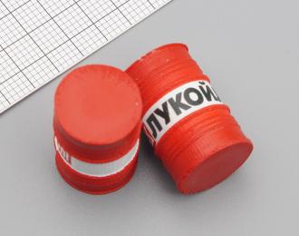 Бочка металлическая Лукойл 200 л. (окрашенная) красно-белая, комплект 2 шт.