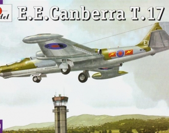 Сборная модель Британский учебный самолет English Electric Canberra T.17