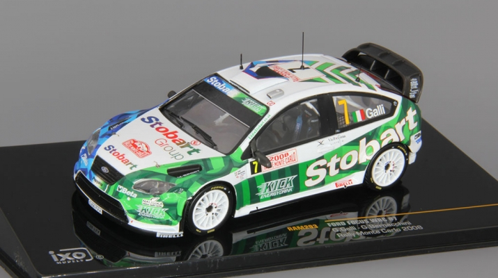 FORD Focus WRC #7 G.Galli-G.Bernacchini Rally Monte Carlo (2008), white