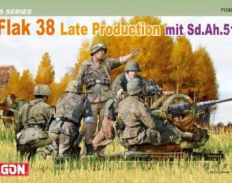 Сборная модель Пушка 2cm Flak 38 Late Production mit Sd.Ah.51