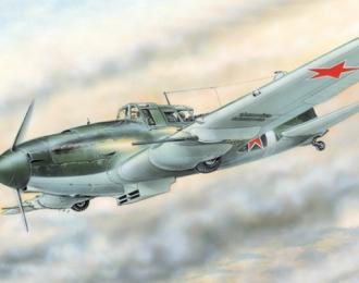 Сборная модель Штурмовик Ильюшин Ил-2М3 C НС-37