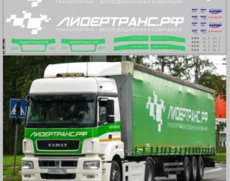 Набор декалей Транспортная компания Лидертранс (вариант 1) (100х290)