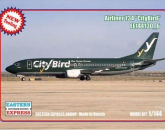 Сборная модель Авиалайнер 737-400  CityBird