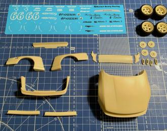 Аэродинамический обвес Pandem V3 для NISSAN Silvia S13 (Tamiya)