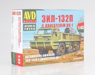 Сборная модель Автомобиль-амфибия ЗИЛ-132П с двигателем ВК-1