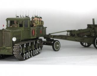 Коминтерн с гаубицей МЛ-20 (парадный)