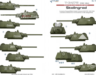 Декаль Т-34/76 mod 1942. Battles for Stalingrad. Part 1.