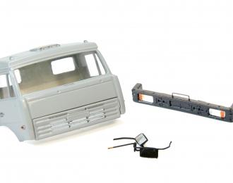 Дневная кабина для КАМАЗ (Евро-2, плоский бампер), серый