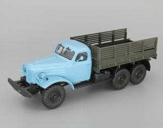 ЗИЛ-157 бортовой, Грузовики СССР 6, голубой / зеленый