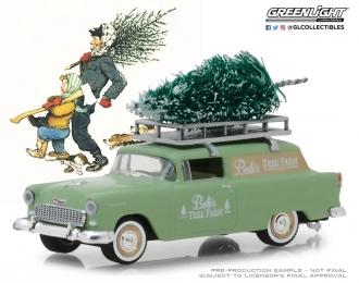 "CHEVROLET Sedan Delivery""Bob's Tree Farm"" с Рождественской елкой 1955 Green"