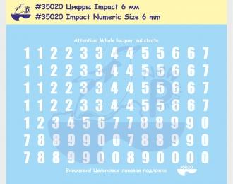 Декаль Цифры, шрифт Impact, высота 6 мм. Для современнойроссийской бронетехники