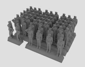 Сборная модель Фигурки моряков кригсмарине в летней форме, набор №1