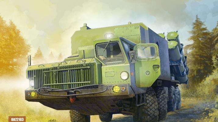 Сборная модель Российская пусковая установка Берегового ракетного комплекса Бал-Э (на базе МАЗ)