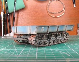 МТП-24Б прицеп гусеничный, синий (запыленный)