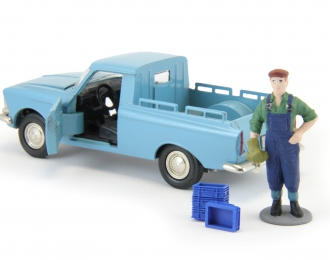 Набор пластиковых ящиков 4 шт (9x7x3мм), синий