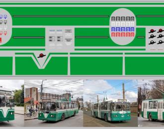 Набор декалей Полосы для троллейбусов зеленые (100х290)