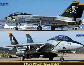 Сборная модель Cамолет F-14A/B TOMCAT JOLLY ROGERS (Two kits in the box)