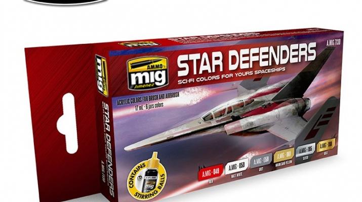 Набор акриловых красок STAR DEFENDERS SCI-FI COLORS
