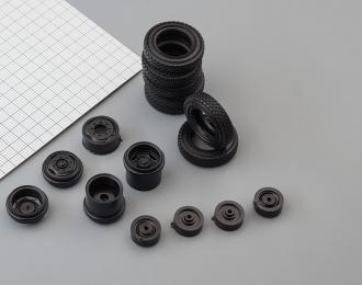 Резина, диски для ЗИL 130 4х2 (шашка), компл. из 7 колес