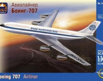Сборная модель Пассажирский самолет Boeing 707 Pan American